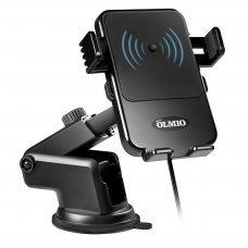 Держатель с беспроводной зарядкой Partner/Olmio 10W для смартфонов
