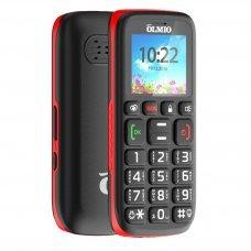 Телефон Olmio C17 черно-красный