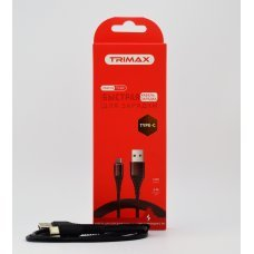 USB Кабель Trimax Type-C T10C 1m черный