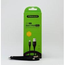 USB Кабель Trimax Lightning T11L 1m черный